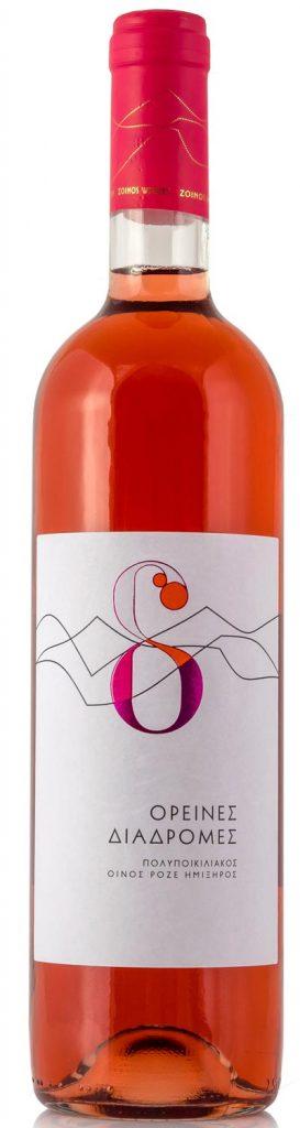 Ορεινές διαδρομές 750ml | Οίνος ροζέ ημίξηρος | Zoinos Winery