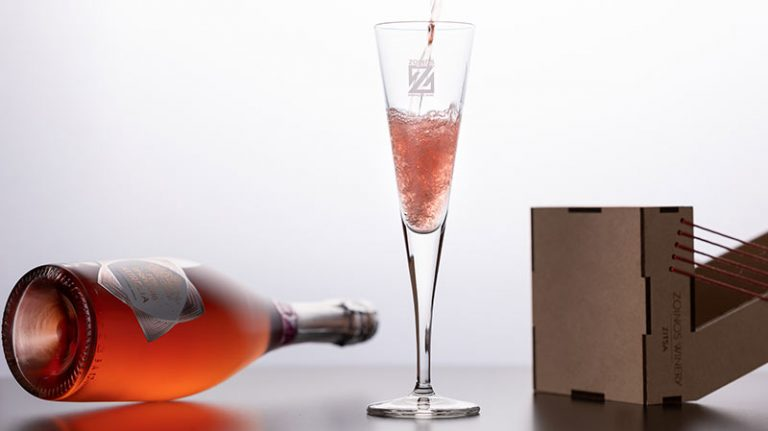 Aurelia Pink Sparkling 750ml | Οίνος Ροζέ Αφρώδης Ημίξηρος | Zoinos Winery